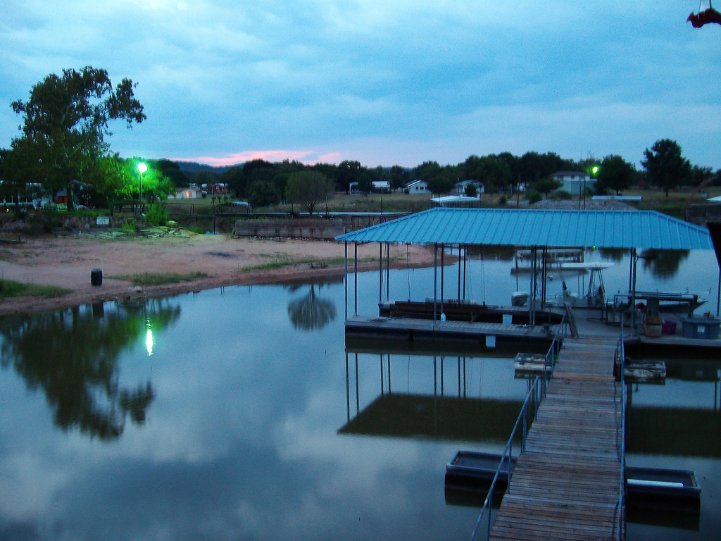 This is what 7-8 feet low water looks like at our dock.  This about what we started the year with. Picture taken Aug. 2010